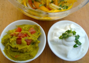 Guacamole, Sour Cream, Pickled Onions With Peppers & Mini-Corn