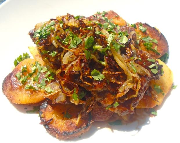 Schwäbischer Zwiebelrostbraten Mit Bratkartoffeln