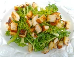 top salad with croutons