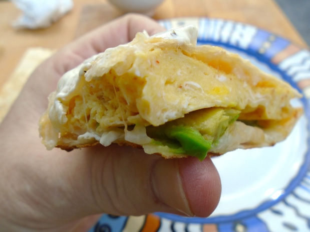 Breakfast Of Champions # 48 - Egg-Quesadilla With Boursin