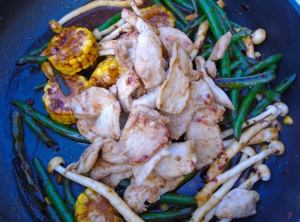 return chicken to wok (or pan), mix well, check / adjust seasoning