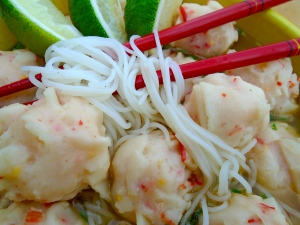 Lobster-Balls And Mung Bean-Noodles Soup