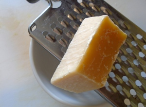 if not using queso fresco, grate asiago or parmesan