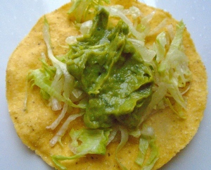 top with guacamole