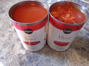 add tomato sauce, diced tomatoes and same amount (volume) of water (or red wine if you prefer)