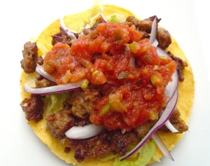 top with salsa mexicana