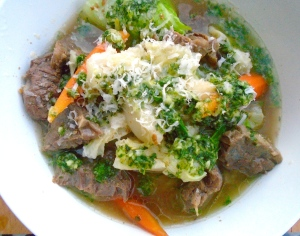 Beef And Vegetable Soup With Pistou