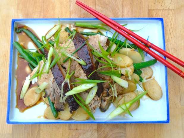 Japanese Pork, Korean Rice Cakes And French Beans