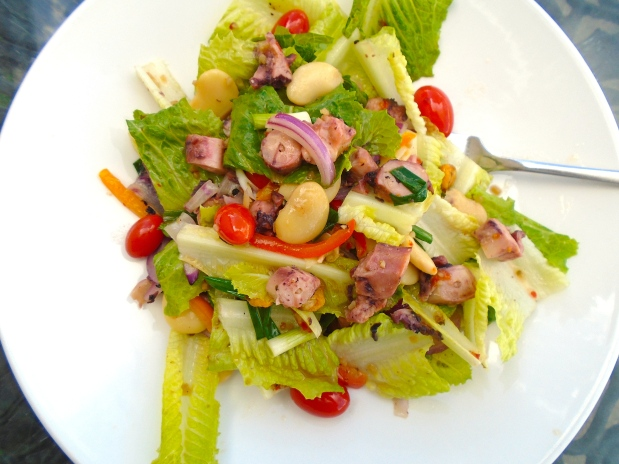 Romaine, Octopus And Bean Salad