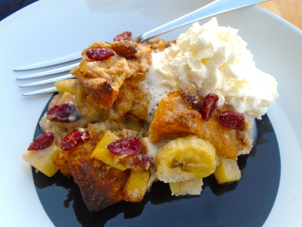 Cinnamon Roll And Fruit-Pudding