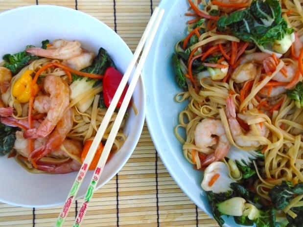 Shrimp Lo Mein (撈麵)