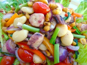 Romaine, Octopus And Bean Salad