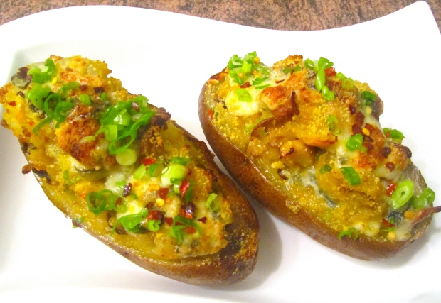 Mushroom & Gorgonzola Loaded Twice Baked Potatoes