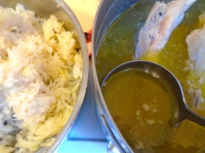 add the kraut, one tblsp sugar and enough cooking-liquid from the ribs to cover the kraut, cover with a lid and very slowly simmer for at least 45 minutes. ( stir often, if too dry, add a bit more stock)