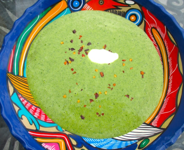 Spinach, Potato & Garlic Cream Soup
