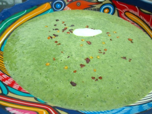 Spinach, Potato & Garlic Cream Soup