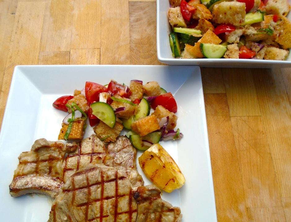 Panzanelle & Grilled Pork Chop