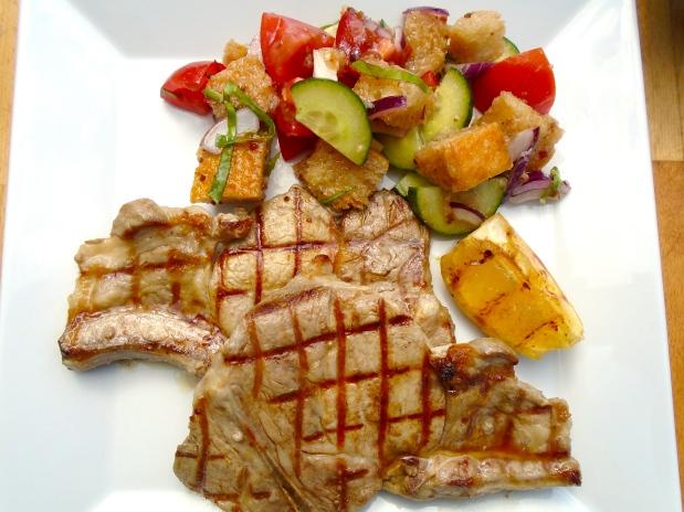 Panzanella & Grilled Pork Chop