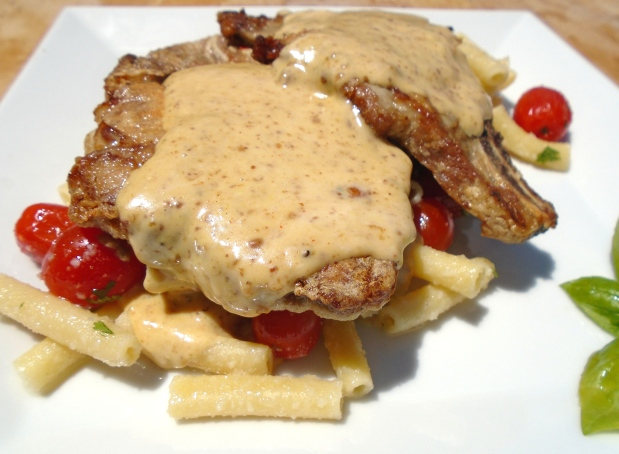 Sauteed Pork Chop & Penne In Mustard Cream