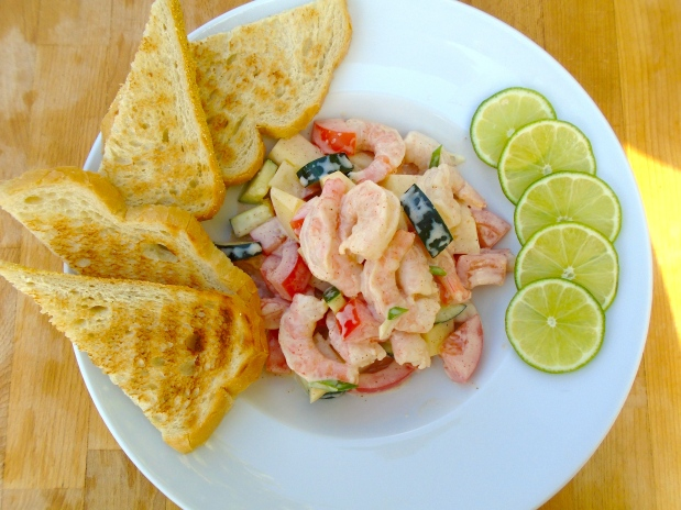 Shrimp And Potato Salad In HoneyYogurt Dressing