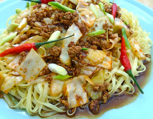 Pork, Cabbage & Chili Noodles