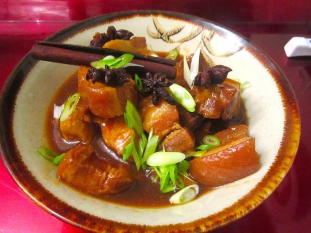 Braised Pork Belly In Ginger, Garlic & Soy