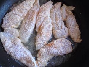 dredge fillets in A/P flour