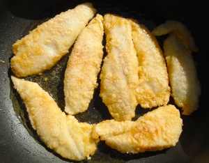 saute fillets in vegetable oil until golden and cooked through