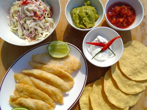 Tostadas Al Pescado (Fish Tostadas)