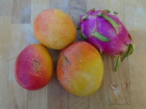 nango and dragon fruit