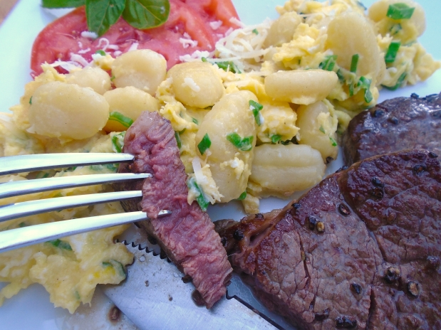 Beef Medaillons, Gnocchi And Truffled Eggs