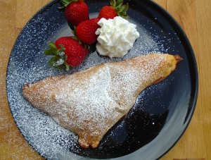 Strawberry And Chocolate Pudding Pocket