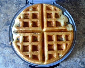 cook waffles as usual