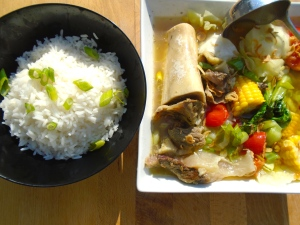 serve bulalo with plain steamed rice
