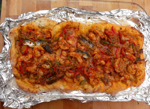 Shrimp And Sardines Pie