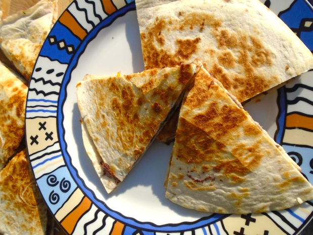 Refried Bean Quesadilla With