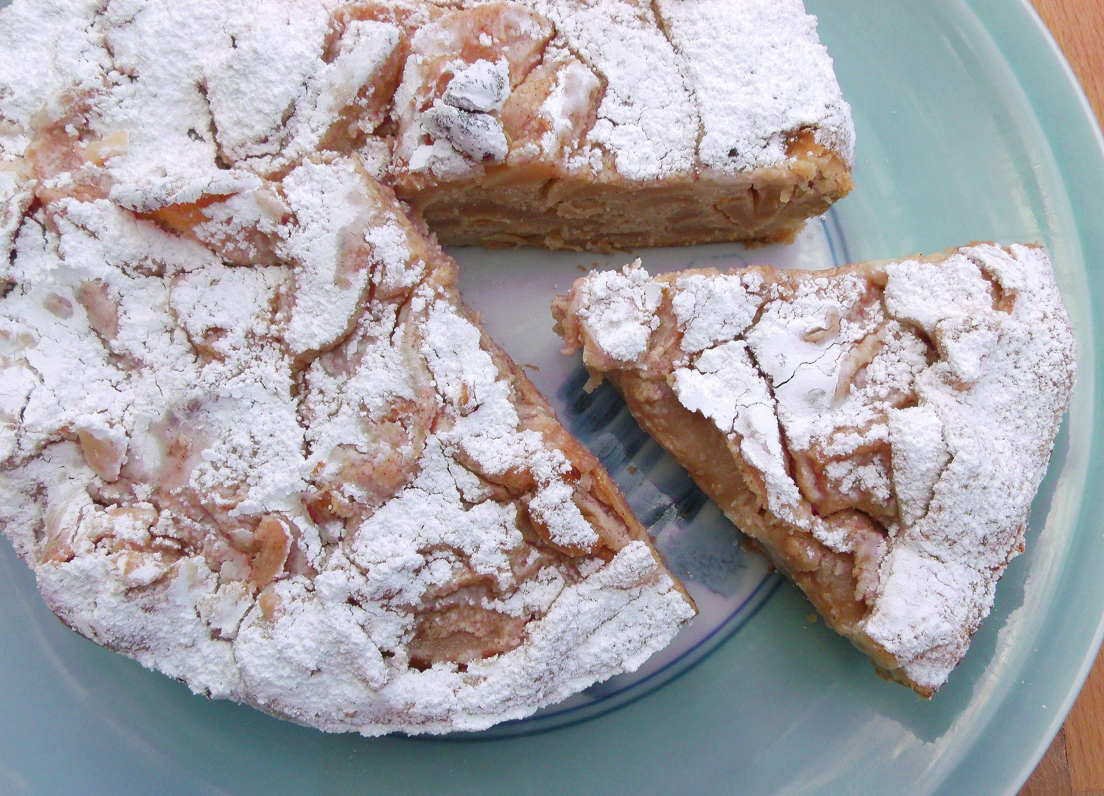 Ricotta Cheese Cake With Apples And Cashews, Served With ...