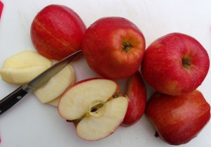 core, peel and finely slice 3 lbs of apples