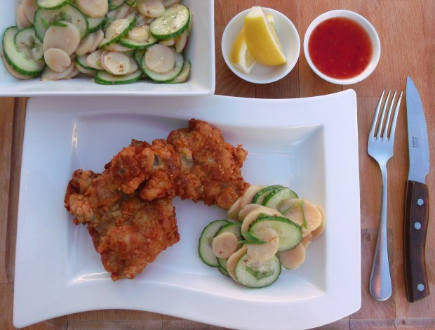 Fried Chicken With Potato Salad