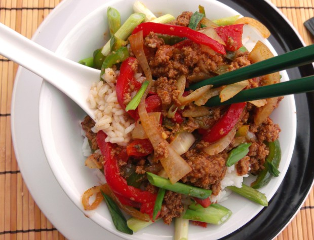Comfort In A Bowl.......Lamb, Peppers, Onions And Rice