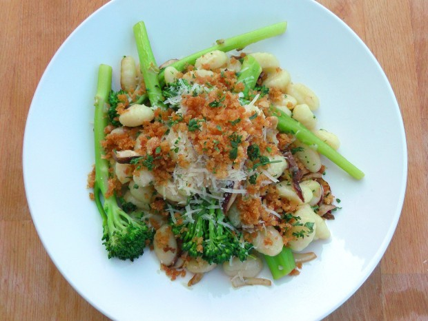 Gnocchi With Broccolini And Mushrooms