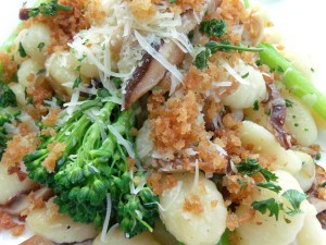 Gnocchi With Broccolini And Mushrooms