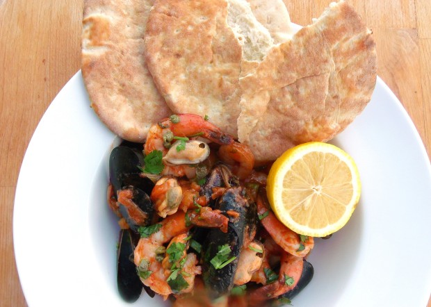 Catalan Shrimp & Mussels Stew