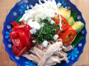 according to your preference, add chopped tomatoes, sliced avocados, sliced chilies, shredded cabbage, chopped cilantro and chopped fresh oregano to the bowls, (or any other condiment mentioned in the intro), top with the chicken broth, serve with fresh lime
