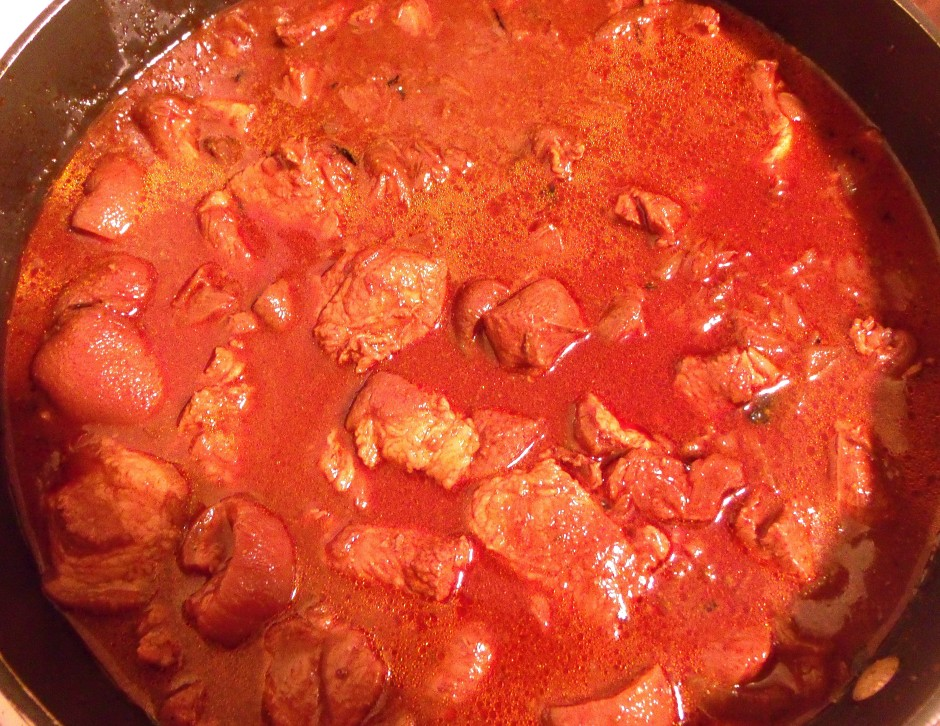 simmer until meat is tender but NOT falling apart