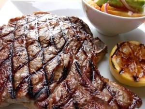 Salade Oscar . Bone-In Rib Eye Steak